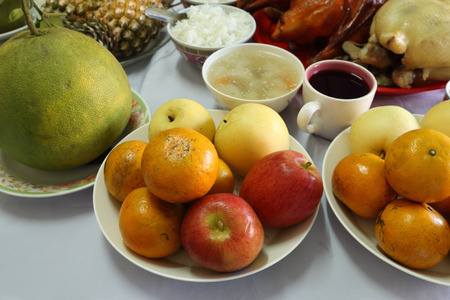 various food for Chinese New Year celebration culture photo