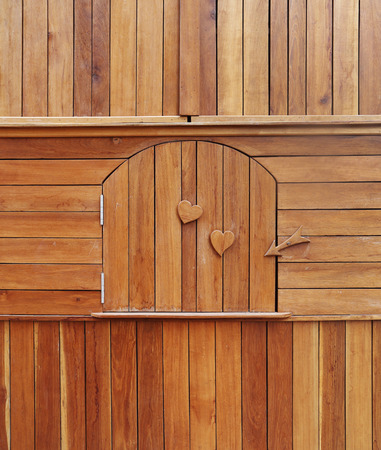 wooden door in a wooden cabinet photo