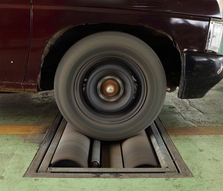 balancesheet: brake testing system of the old car
