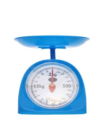 red gram: weight measurement balance isolated on white background (zero point) Stock Photo