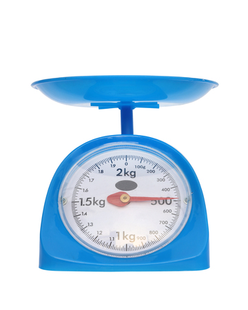 gram: weight measurement balance isolated on white background (500 gram) Stock Photo