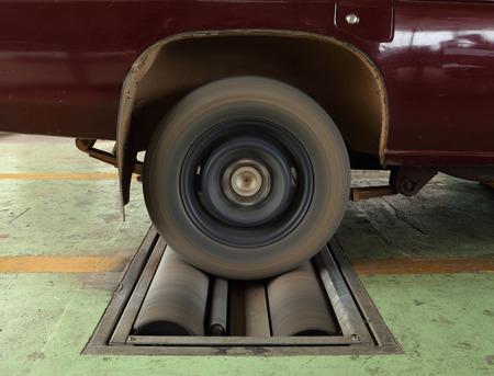 balancesheet: brake testing system of the old car (front wheel)