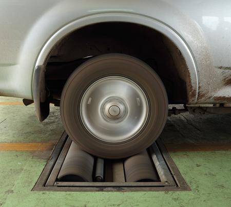 balancesheet: brake testing system of a car (rear wheel)