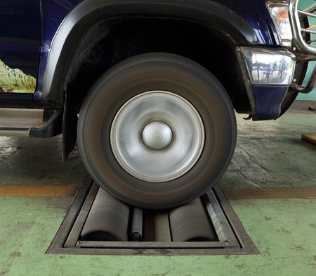 balancesheet: brake testing system of a car