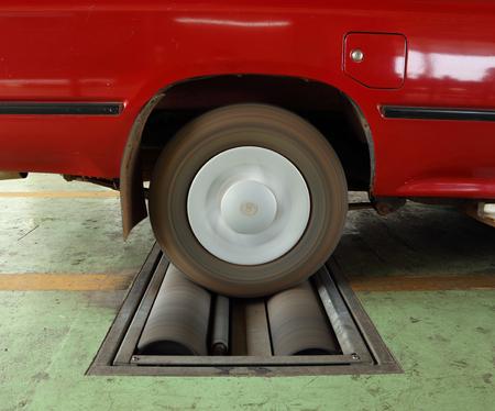balancesheet: brake testing system of the old car (rear wheel)