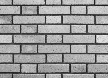 brick stone wall texture and background (gray scale) photo