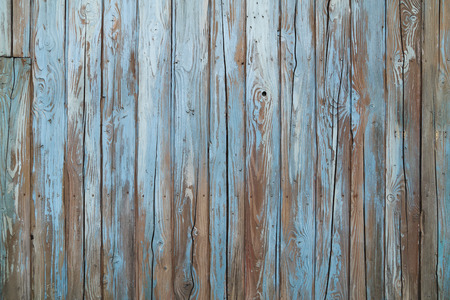 old blue wood wall texture and background Archivio Fotografico