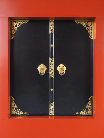 Black doorway asakusa, sensoji temple, Tokyo, Japan photo