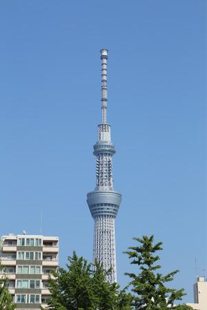 Tokyo Sky tree with blue sky, Tokyo, Japan
