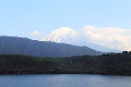 saiko: Mount Fuji, view from Lake Saiko, Japan
