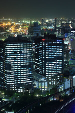 Tokyo cityscape at night of Japan photo