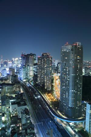 Tokyo cityscape at night of Japan photo