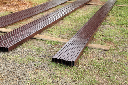 rectangular steel pipe for construction photo
