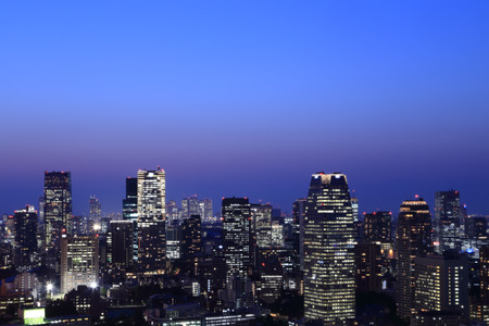 Tokyo cityscape at night of Japan 写真素材