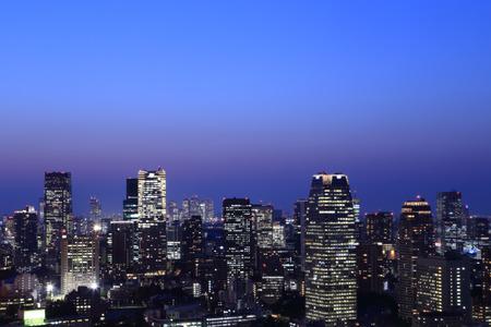 Tokyo cityscape at night of Japan Standard-Bild