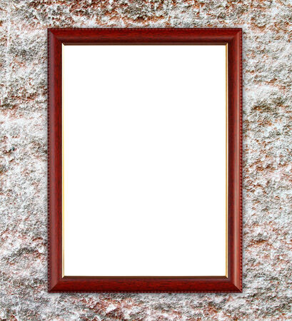 blank wood wall on ancient stone wall background photo
