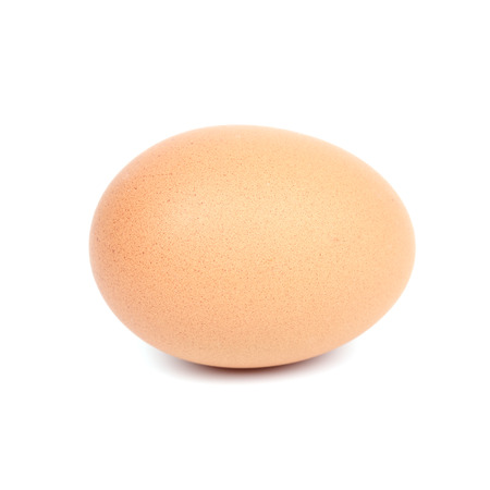 brown egg on a white background photo