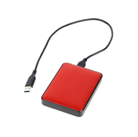 External hard disk on a white background Stock fotó