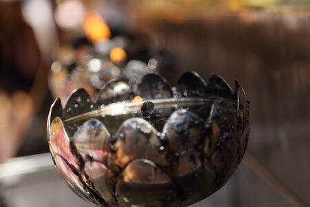 oillamp: oil lamp lighting arranged in patterns