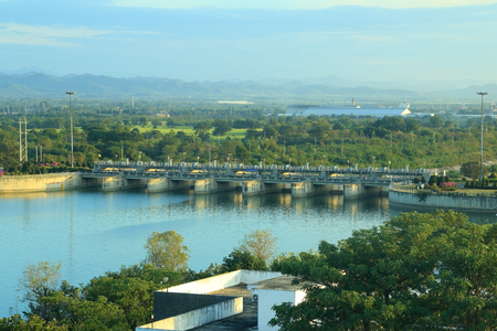 Pa Sak Jolasid Dam in Lopburi, Thailand