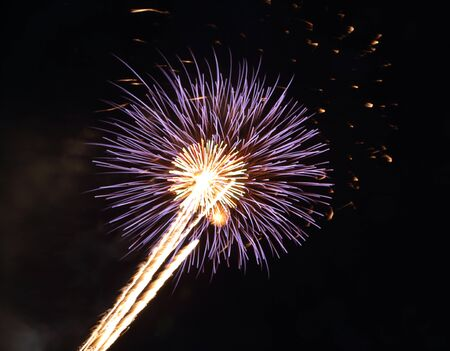 beautiful firework with sky at the night photo