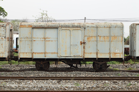 bogie: bogie of an old train parking in station