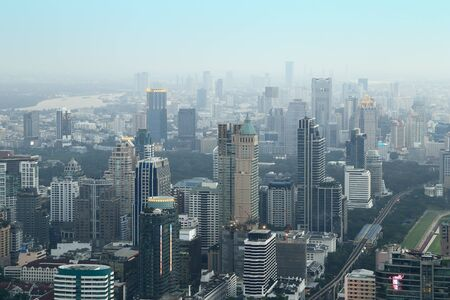 Bangkok cityscape,Thailand (aerial view from Baiyoke Sky Tower)