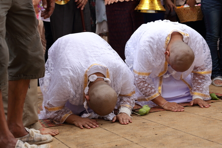 ordination: the ordination ceremony that change the Thai young men to be the new monks