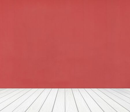 white wood floor: room interior with color wall and white wood floor background