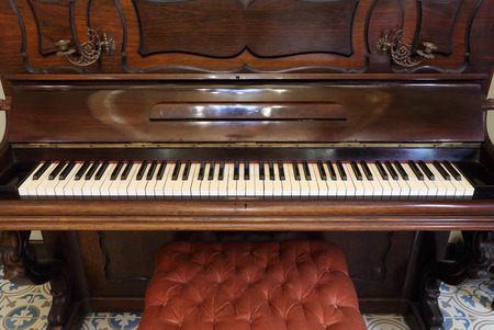 ebony wood: the old classic wood piano (vintage style)