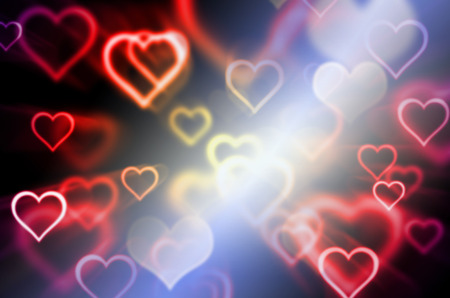pink wallpaper: abstract heart shape and blur for background Stock Photo