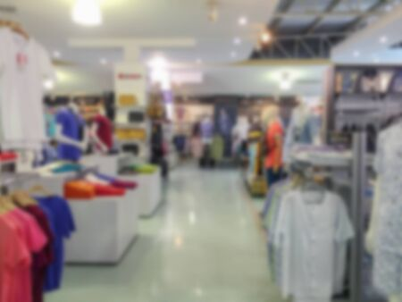 clothing store: De focusedBlurred image of a clothing store Stock Photo