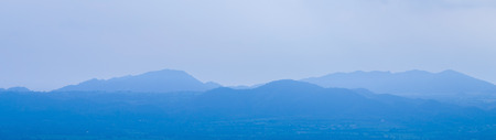 soft peak: group of blue mountain layers in Thailand for background Stock Photo