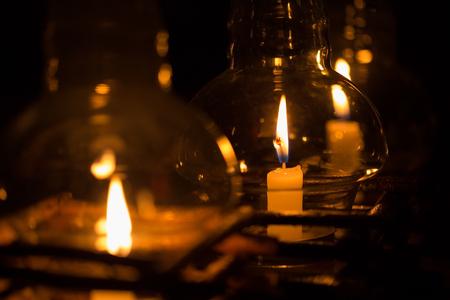 kerze: Kerze im Glas Laterne
