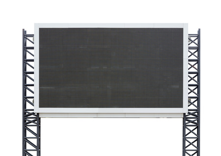 black empty board: large sign board isolated on a white background (with clipping part)