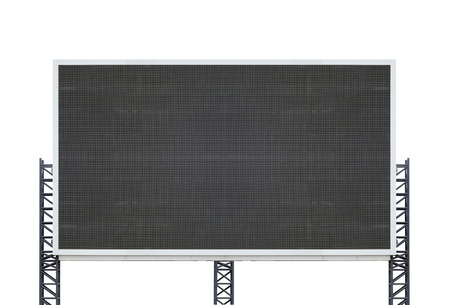 large sign board isolated on a white background Banco de Imagens