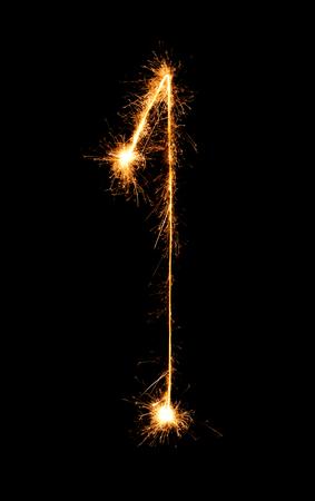 1. Digitaal een gemaakt van vuurwerksterretjes bij nachtachtergrond