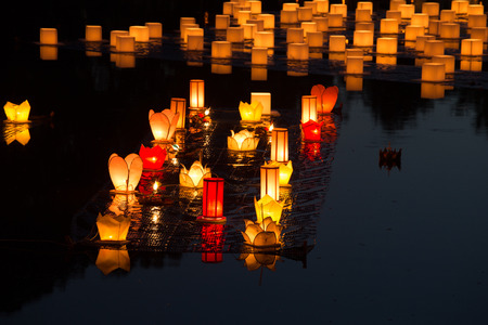 Loy Kratong Festival at Sukhothai Historical Park, Thailand