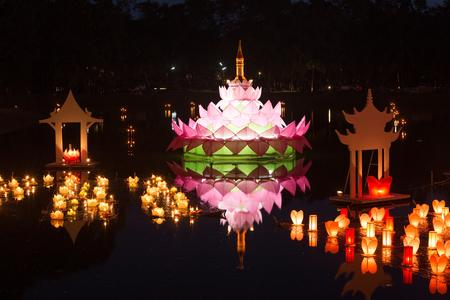 Loy Kratong Festival at Sukhothai Historical Park, Thailand