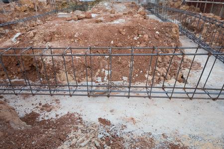 reinforce: reinforce steel rod for beam construction site