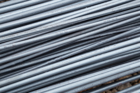 reinforce: Steel rods or bars used to reinforce concrete for construction