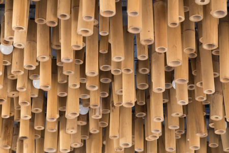 ceiling texture: Bamboo wood decoration on ceiling background texture