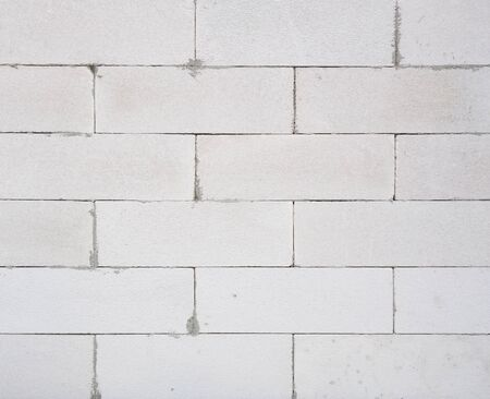 foamed: background texture of white Lightweight Concrete block, Foamed concrete block, raw material for industrial wall or house wall
