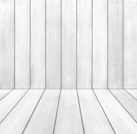on wood floor: white wood room (white wood floor and wall background)