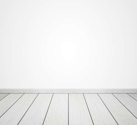 on wood floor: white wood floor isolated on a white background