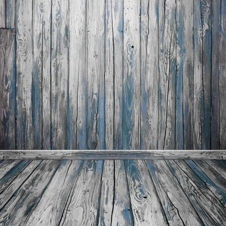 on wood floor: empty room interior with wood wall and floor