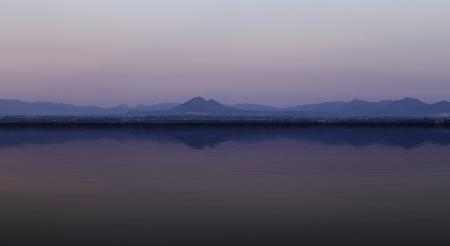 pa: mountain with water reflection (view from Pa Sak jolasid dam), Lopburi, Thailand