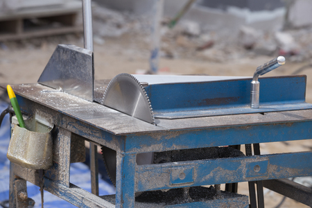 Aluminium Cutting Blade on table at construction site