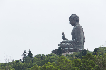 enormous: The enormous Tian Tan Buddha at Po Lin Monastery in Hong Kong