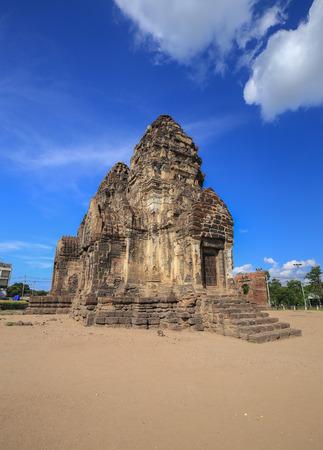 Phra Prang Sam Yot temple, ancient architecture in Lopburi, Thailand